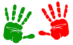 Coloured Hand Prints