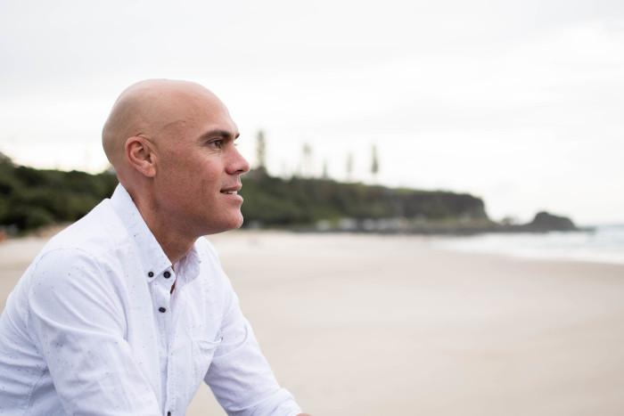 Lee Kapa looking at the beach
