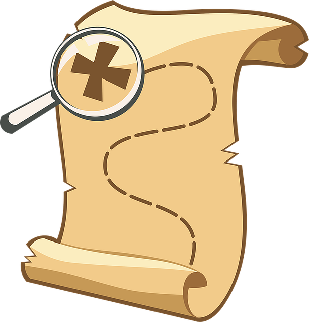 A magnifying glass hovering over a map.
